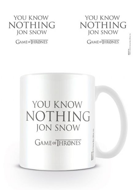 Game of Thrones (You Know Nothing Jon Snow) Coffee Mug